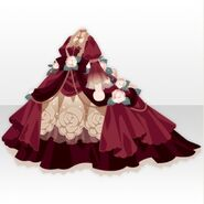(Tops) Snow Land Princess Flower Dress ver.A red