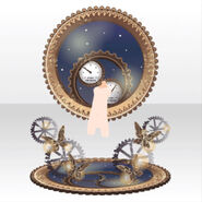 (Avatar Decor) Gears moving slowly in Space ver.A yellow