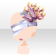 (Face Accessories) Chrysanthemum on Eyepatch & Mouth ver.A purple