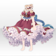 (Tops) Royal Girl Gorgeous Frilled Dress ver.A red