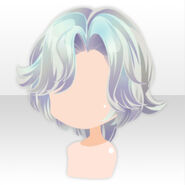 (Hairstyle) Happy Makeup Girls Short Hair ver.A blue
