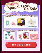 (Packs) Sparkle!! - Special Packs 1