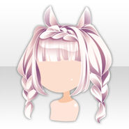 (Hairstyle) White Rabbit Braided Hair ver.A pink