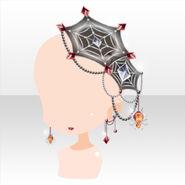 (Head Accessories) Piercing & Spider Web Hair Accessory ver.A gray