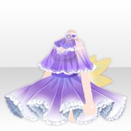 (Tops) Deep-Sea Lace Up Mini Dress ver.A purple