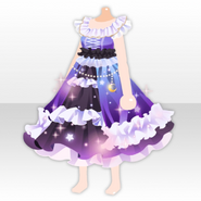 (Tops) Night Dress Party Starlit Dress ver.A purple