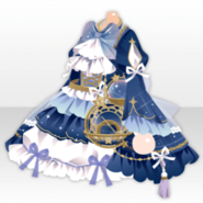 (Tops) Traveling Stars Celestial Globe Frilled One-Piece ver.A blue