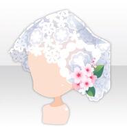 (Head Accessories) Cherry Blossoms Shiromuku Veil ver.A white
