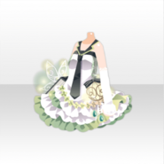 (Tops) Natural Flower Mini Dress ver.A white