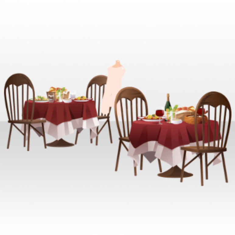 Image Back Accessories Table And Chari In Farm Restaurant VerA - Restaurant table accessories