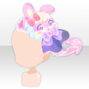 (Head Accessoires) Rainbow Rabbit Head Dress ver.A purple