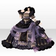 (Tops) Dream Cloud Goddess Bell Line Dress ver.A black