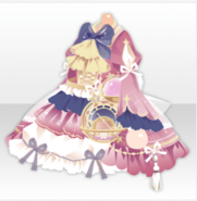 (Tops) Traveling Stars Celestial Globe Frilled One-Piece ver.A pink