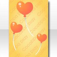 (Wallpaper Profile) Happiness Heart Balloon Wallpaper ver.A purple