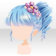 (Hairstyle) Sky Dragon Side Roll Hair ver.A blue