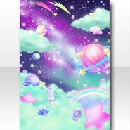 (Wallpaper Profile) CocoPPa Dolls Colorful Rocket Wallpaper ver.A green