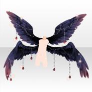 (Avatar Decor) Fallen Feather Dark Angel's Feathers ver.A black