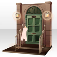 (Back Accessories) 221B Entrance for Detectives ver.A brown