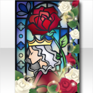 (Wallpaper Profile) Rose & Prince Stained Glass Wallpaper ver.A blue
