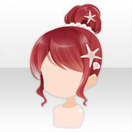 (Hairstyle) Jewel Mermaid Bun Hair ver.A red