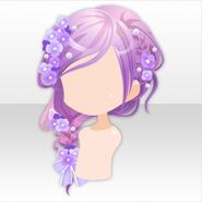 (Hairstyle) Hydrangea Braided Hair ver.A purple
