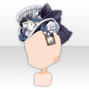 (Head Accessories) Alice Dressy Rose Hat ver.A black