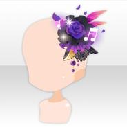 (Head Accessories) Gothic Live Rose Head Accessory ver.A purple