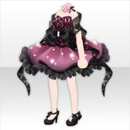 (Tops) Papercut World Ribbon Mini Dress ver.A pink