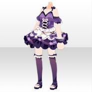 (Tops) Pure Crystal Short Dress ver.A purple