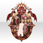 (Back Accessories) Chocolat Knight Emblem ver.A red
