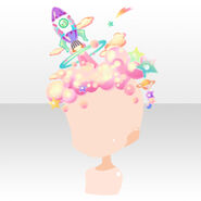 (Head Accessories) CocoPPa Dolls Colorful Rocket Hat ver.A pink