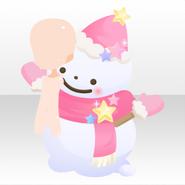 (Avatar Decor) Kawaii★Star Big Snowman ver.A pink