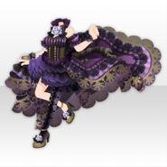 (Tops) Papercut World Fluffy Dark Dress ver.A black