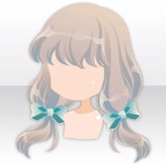 (Hairstyle) Tea Party Ribbons on Fluffy Twin Hair ver.A gray