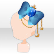 (Head Accessories) Star Memory Big Bow ver.A blue