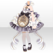 (Tops) Happy Makeup Girls Perfume Dress Style ver.A white