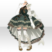 (Tops) Maiden Tail Cut Dress Style ver.A green
