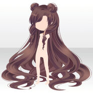 (Hairstyle) Starry Moon Princess Hair ver.A brown