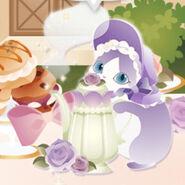 (Characters) Afternoon Tea - Magic Pot Cat Purple