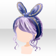 (Hairstyle) DayDream Rabbit Ears Headband & Hair ver.a purple