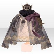 (Head Accessories) Dream Cloud Veil Crown ver.A black