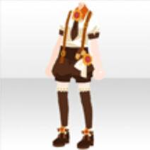 (Tops) Cookie Short Pants Suit Tops ver.A brown