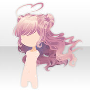 (Hairstyle) Angelic Twin Hearts Long Hair ver.A pink