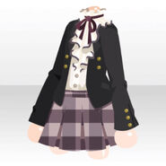 (Tops) Formal Blouse Skirt Set ver.A black