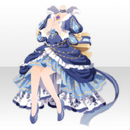 (Tops) Imperial Princess Ribbon Tail Dress Style ver.A blue
