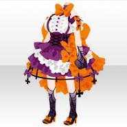 (Tops) Creepy Halloween Devil Girl Dress ver.A orange