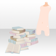 (Body Accessories) Secret Fleur with Books ver.A pale blue
