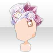 (Head Accessories) Alice Dressy Rose Hat ver.A white