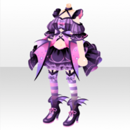 (Tops) Hallowitch Pretty Bat Style ver.A purple