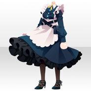 (Tops) Sky Dragon Maid Dress ver.A black